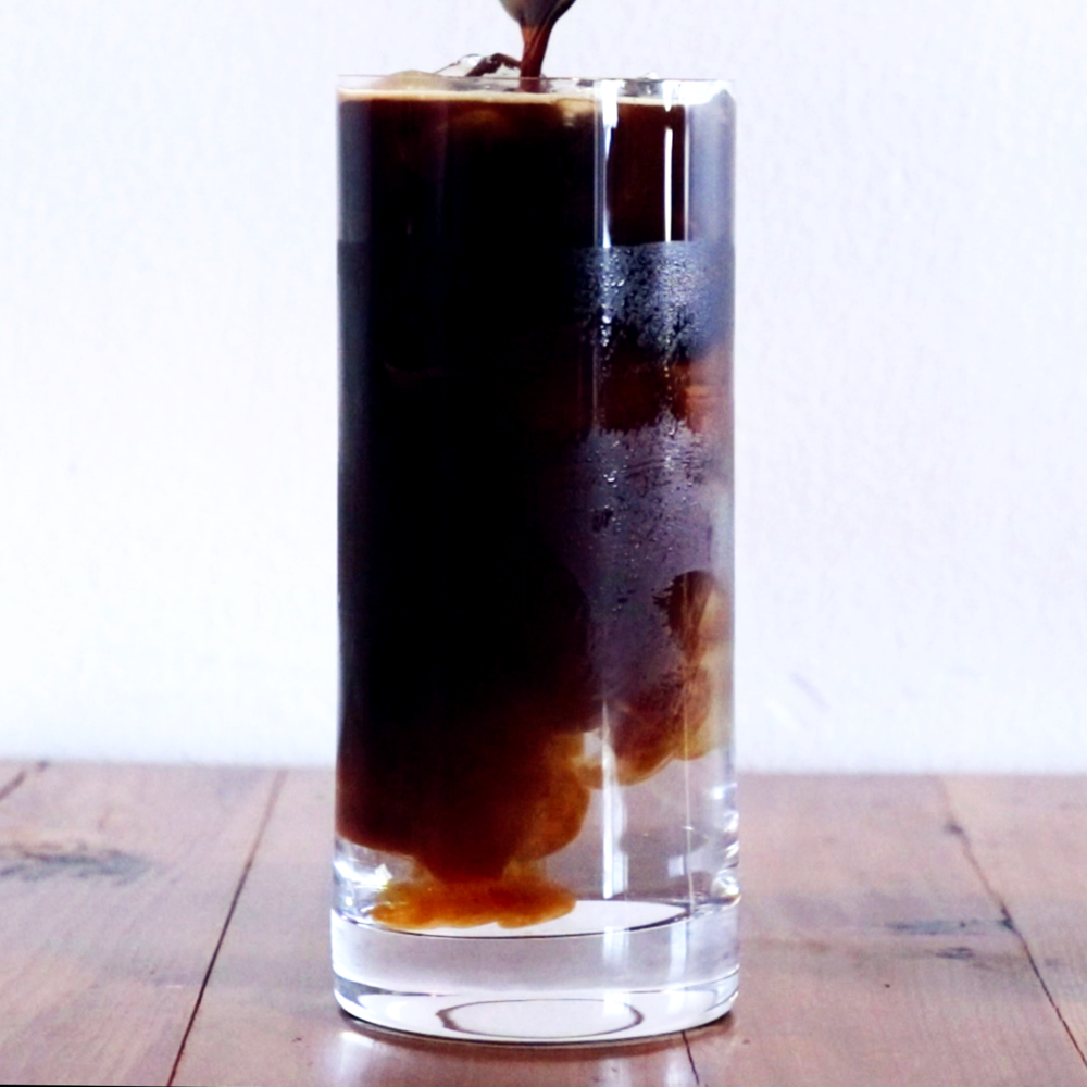 Iced Americano - Espresso + Water + Ice