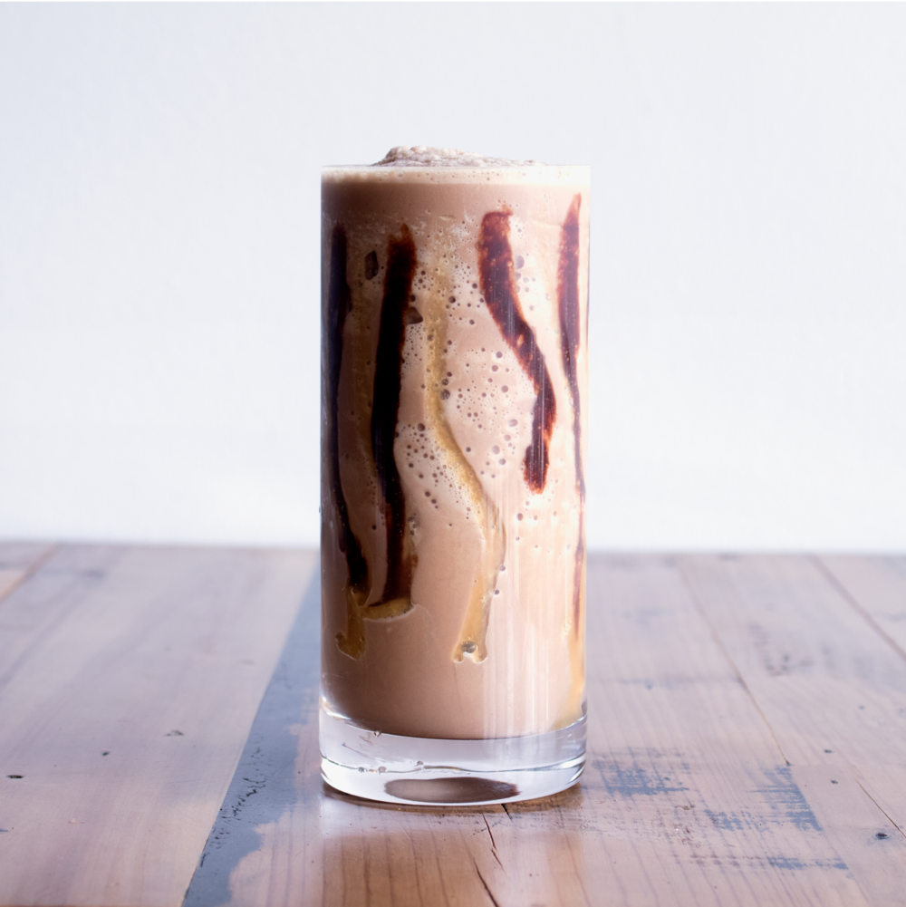 Galactic Frappé - Espresso + Chocolate + Vanilla + Caramel + Milk