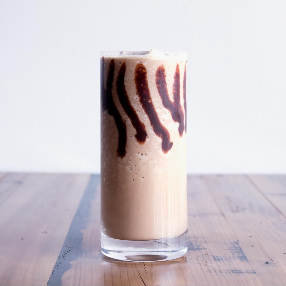 Peanut Butter Cup Frappé - Espresso + Chocolate + Peanut Butter + Milk