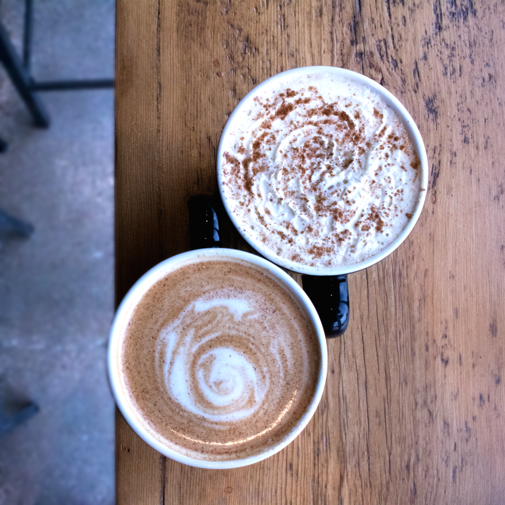 Pumpkin Pie Latte - Pumpkin + Fall Spice + Espresso + Milk + Whipped Cream