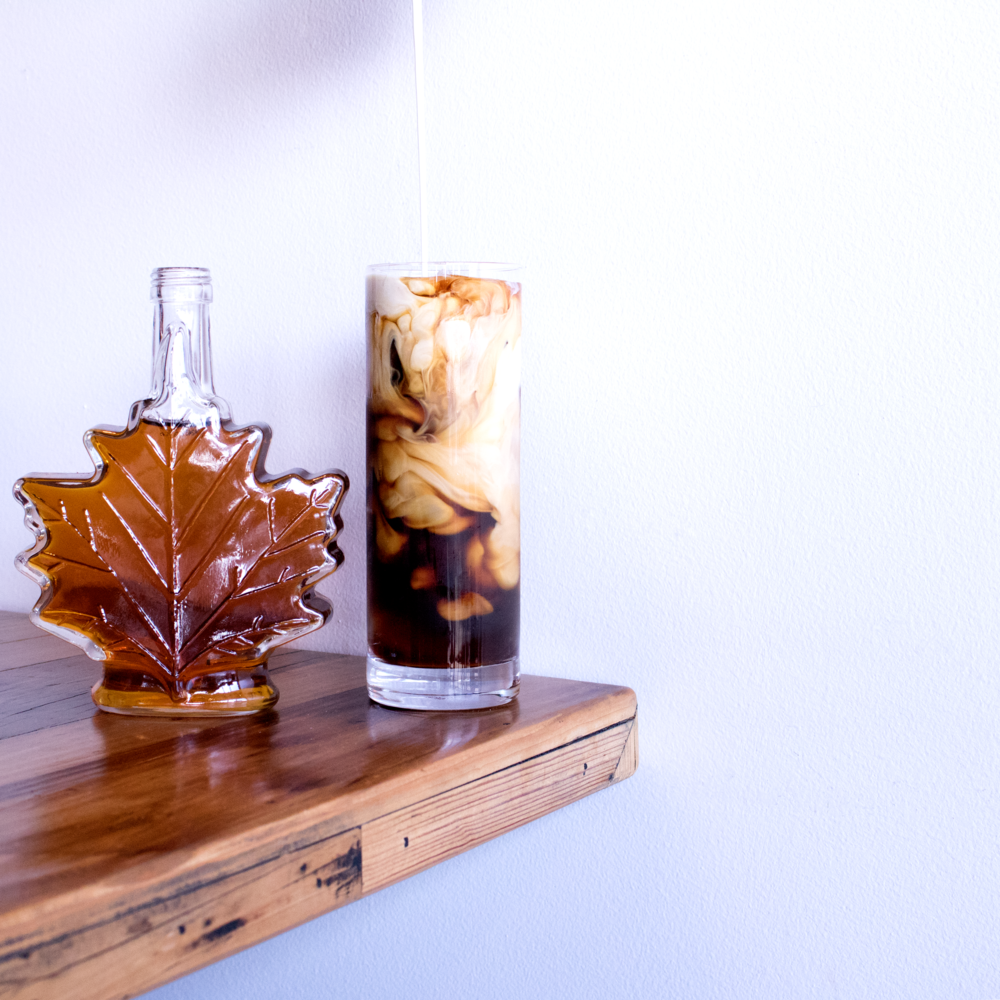 Maple Créme Cold Brew - Maple Syrup + Half and Half + Cold Brew