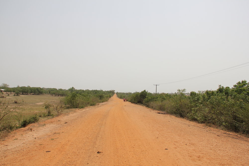 Road leading to the Site of the Solar Farm Project.JPG