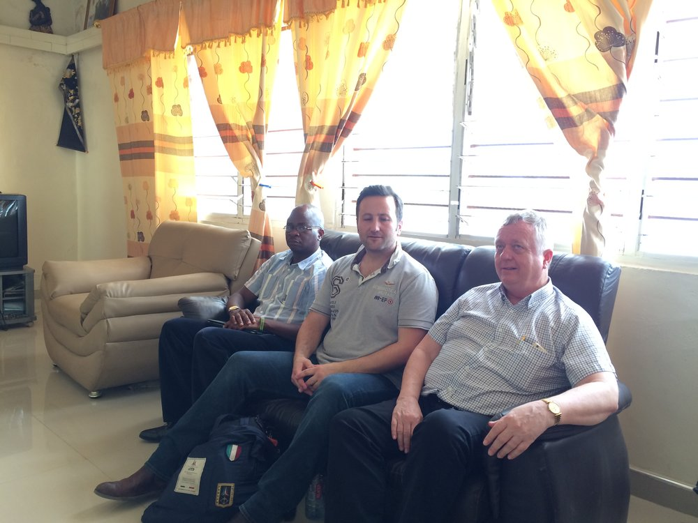 Deji Akinade, Lars Salling and Henrik  Christensen during one of the visit to the Community Chief during Land Negotiation.JPG