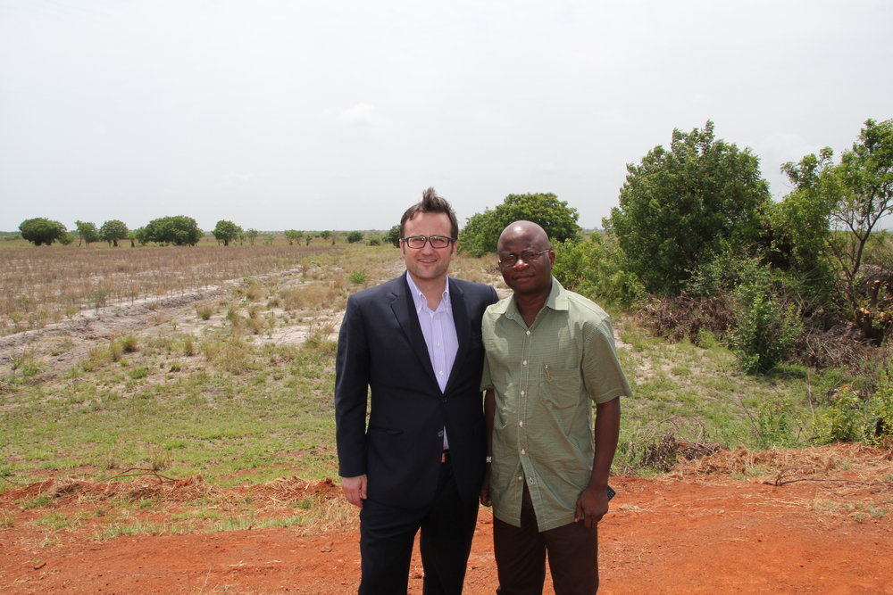 Lars Salling and Deji Akinade at the Solar Farm project site.JPG