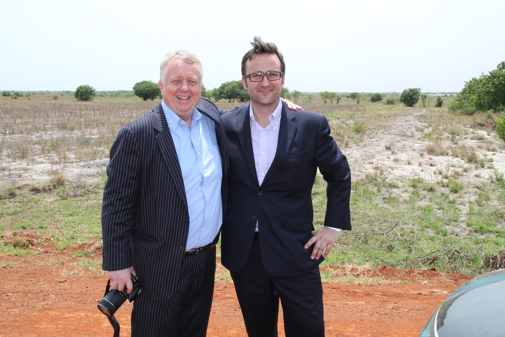 Lars Salling and Henrik Chritensen at the Solar Project Site.JPG