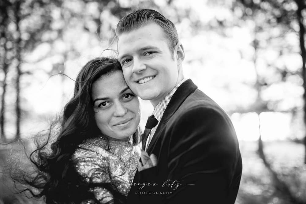 Couples engagment photography session at sunset black and white by NEPA photographer