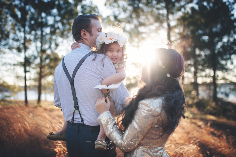 Sunset formal family photo session in Atlanta Georgia by NEPA photographer