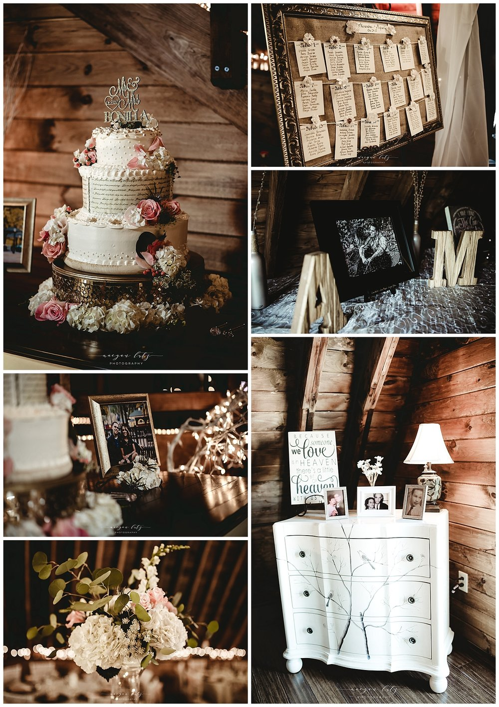 Barn wedding reception at The Barn at Glistening Pond, Falls PA by Photographer in NEPA