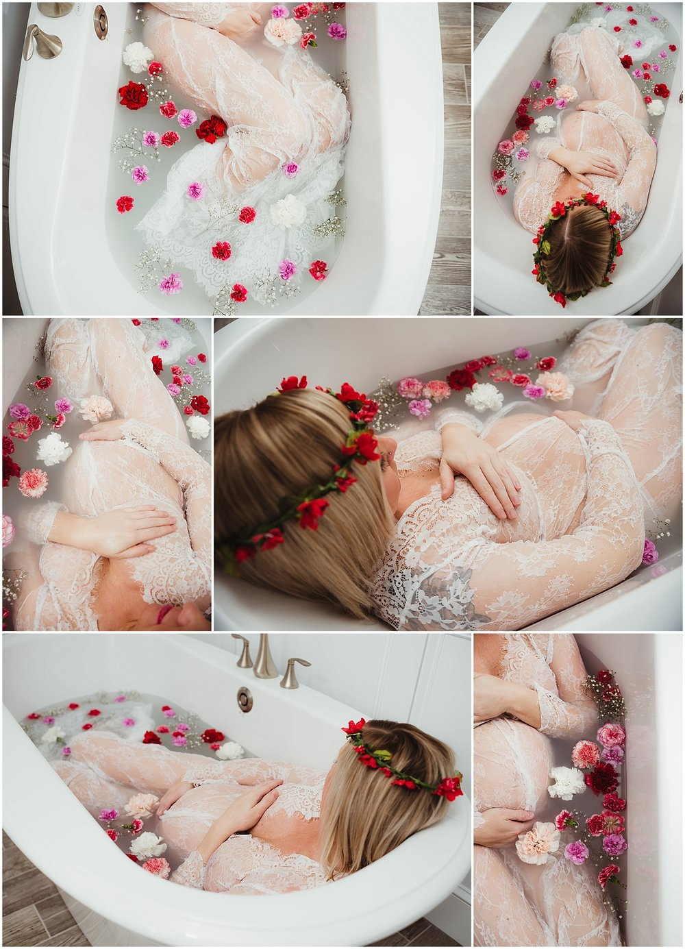 Milk Bath Maternity Session by Maternity Photographer in Luzerne County