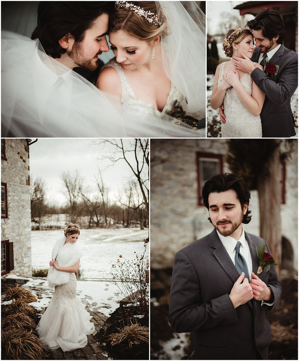 Snowy Winter Wedding at the Tulpehocken Manor in Myerstown PA by NEPA Wedding Photographer