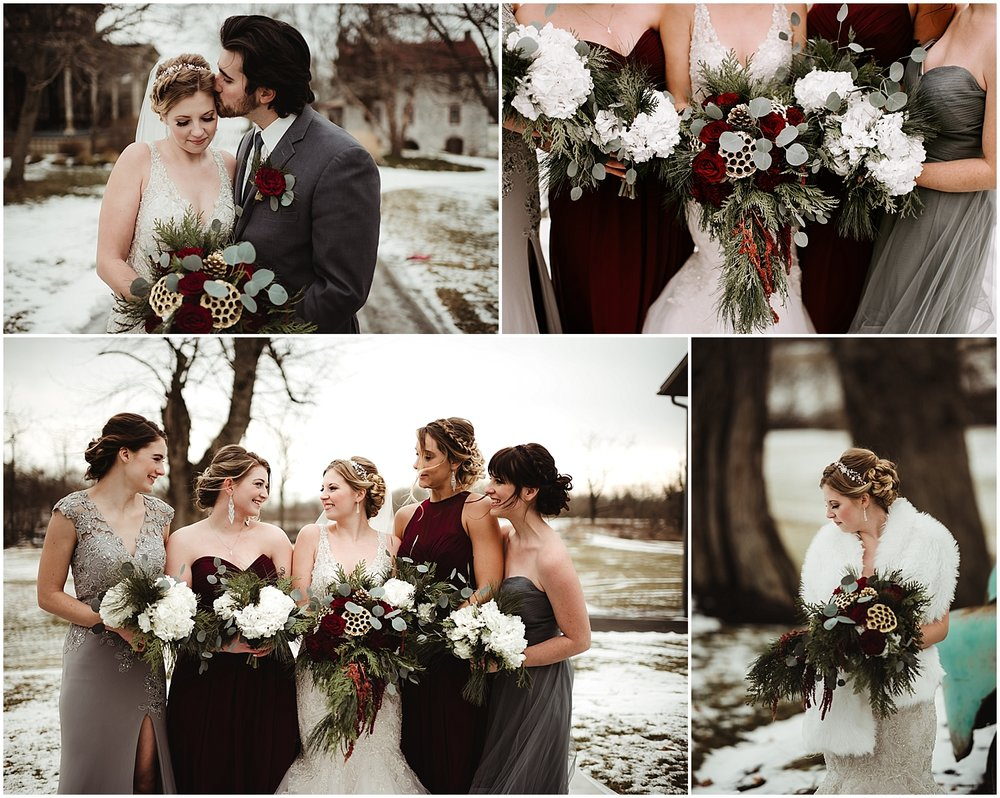 Winter wedding in the snow by NEPA Wedding Photographer