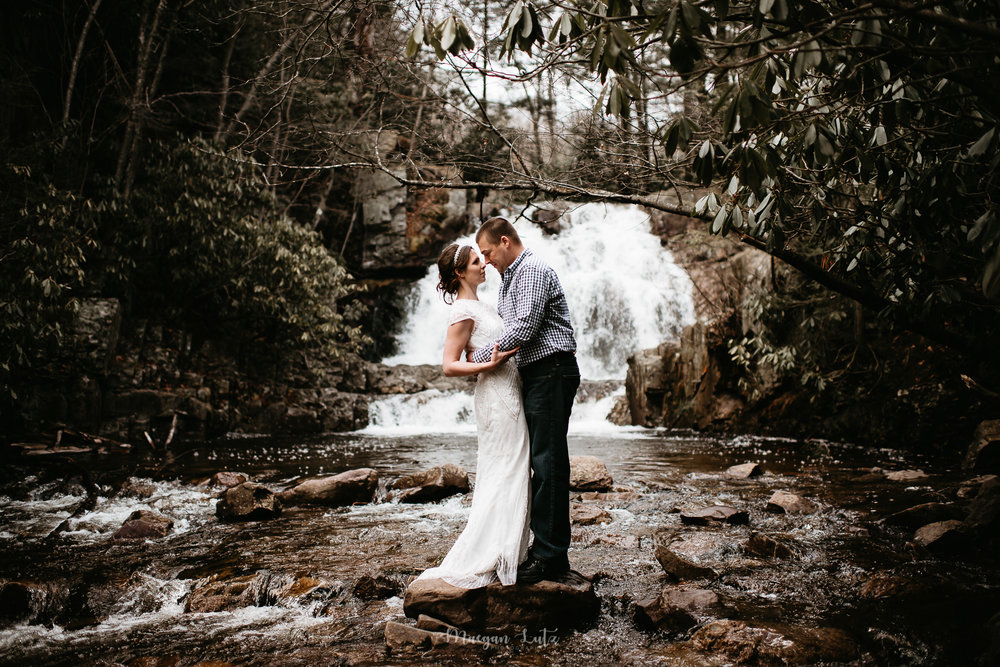 Destination wedding photographer, Colorado, Hawaii, water fall elopement in NEPA
