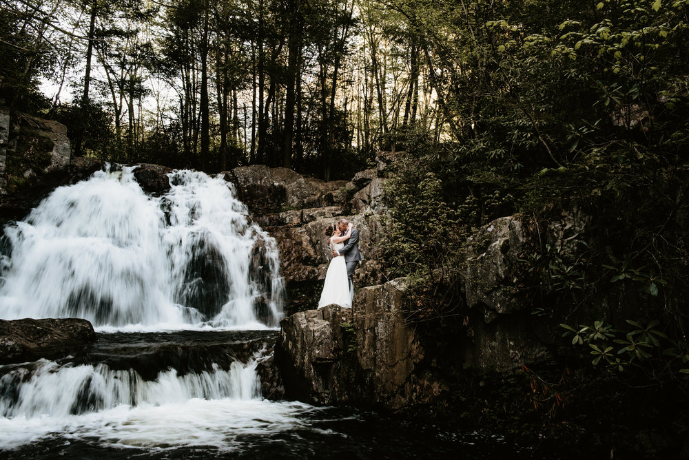 NEPA Elopement Photographer at Hawk Falls at Hickory Run State Park in White Haven, PA