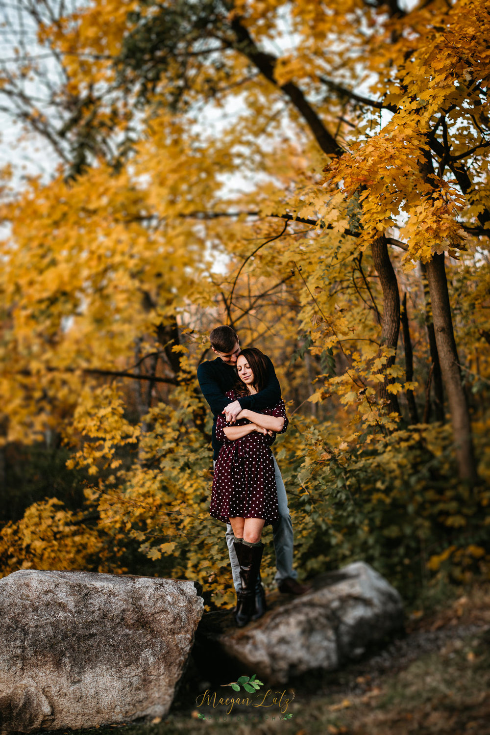 Engagement session at lock ridge furnace museum