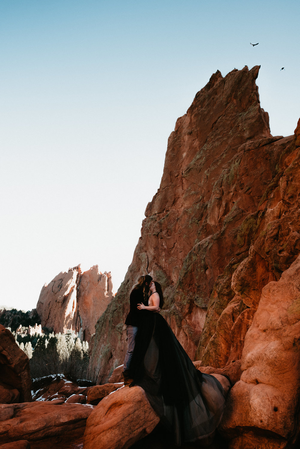 Destination Engagement Photographer at Garden of the Gods - Colorado Springs Colorado