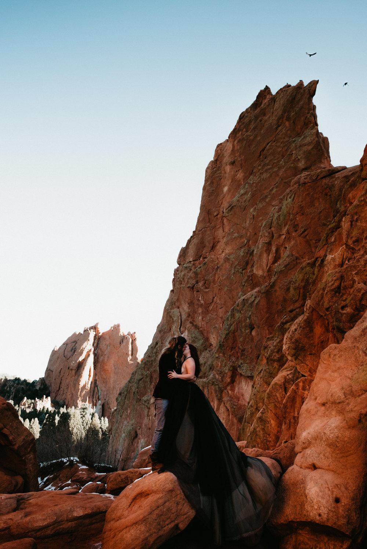 Destination Engagement Photographer at Garden of the Gods - Colorado Springs Colorado