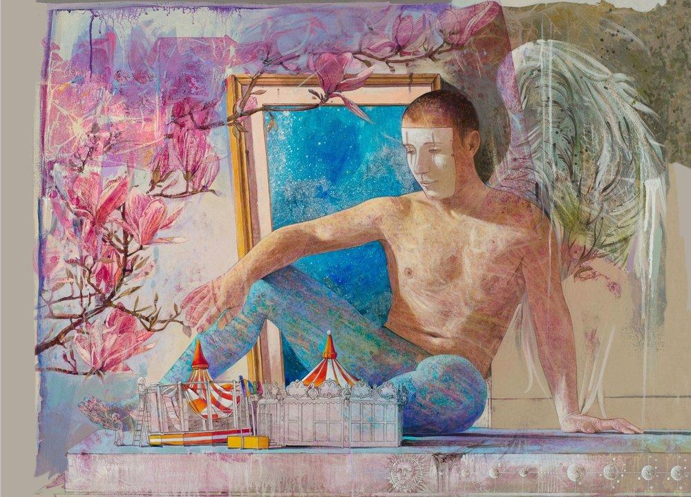 Icaro   Acrilico su tavola - 80x100 cm