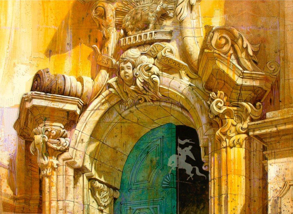 Chiesa di San Giorgio, Modica    Acrilico su tela - 80x100 cm
