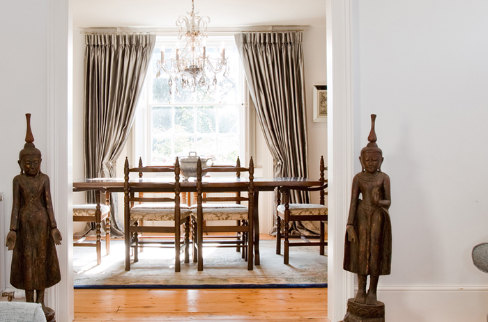 We bought a pair of Burmese statues for our client in Surrey.