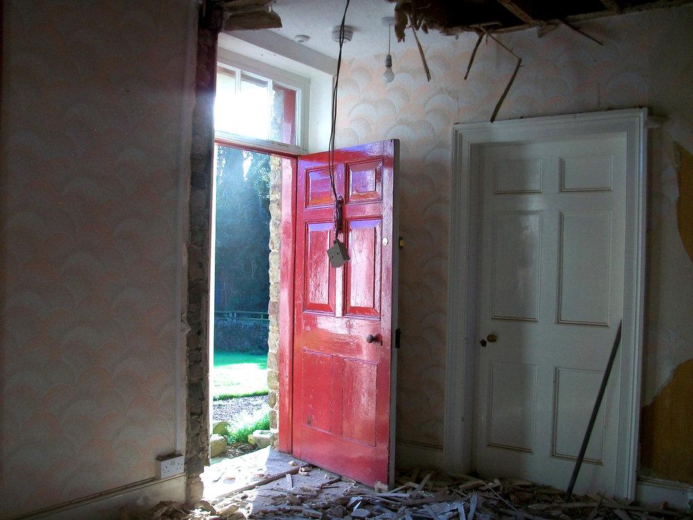 The front door before