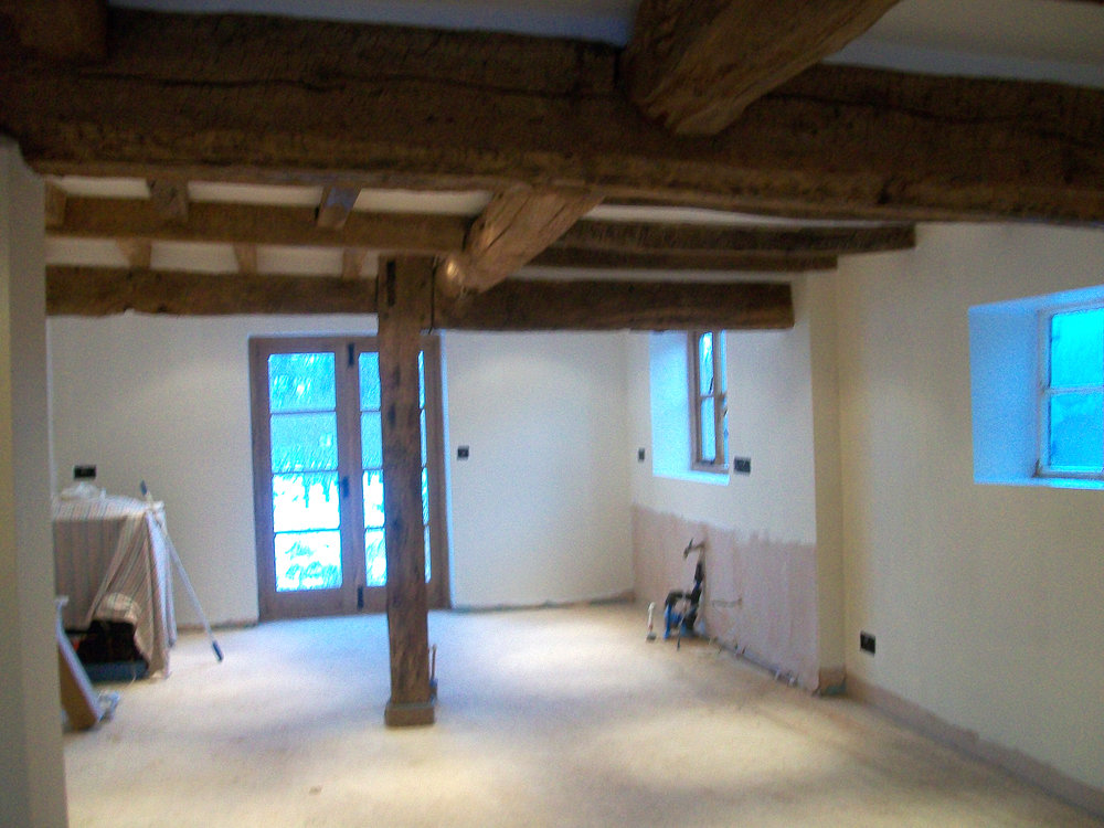 The kitchen prior to being fitted