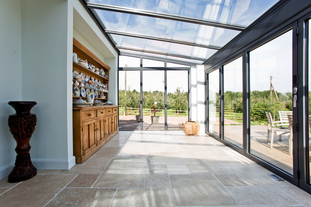 The interior of the completed conservatory