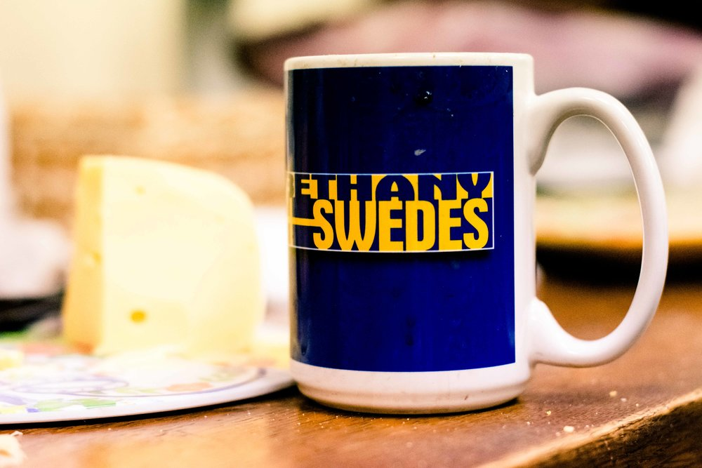 Fueled by fika (Swedish coffee break), students have a chance to socialize and converse in Swedish and English.