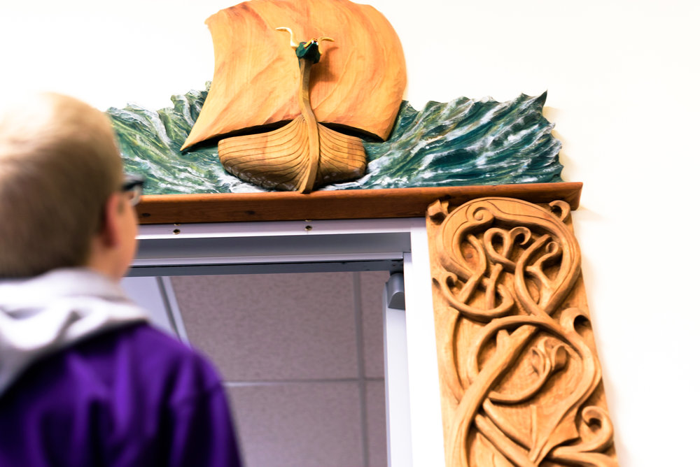 Heads up! You'll also find artwork like paintings and carvings from local artists throughout the library to enjoy.