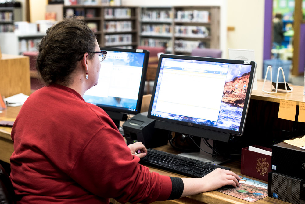 Suzanna Swenson coordinates multiple community programs for the library.
