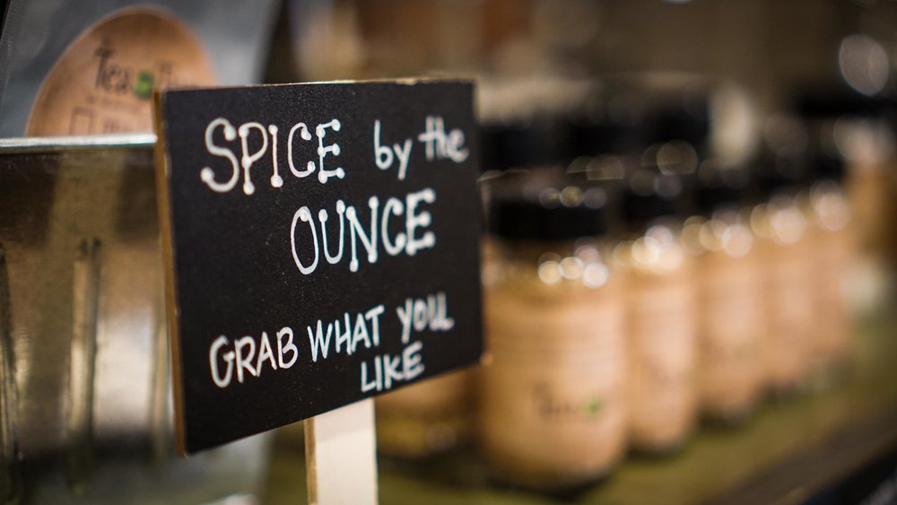 Choose from 50 fresh and often locally made spices