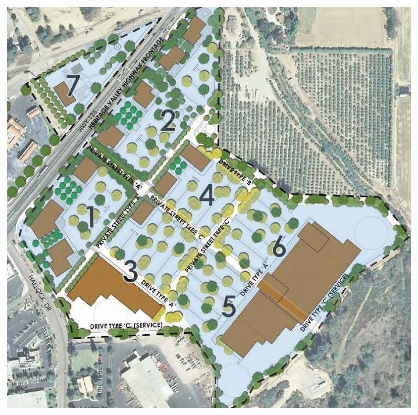 Description.   (Document Link)    Source: City of Santa Paula, California East Gateway Specific Plan. Figure 2-1 Illustrative Master Plan - Regional Retail Program.  http://www.ci.santa-paula.ca.us/eastareatwo/Documents/EastGatewaySpecificPlan.pdf