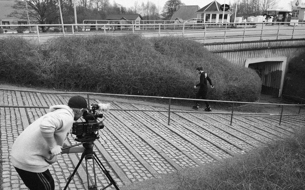 Framing up the shot - Photo courtesy of Jonas Hansson