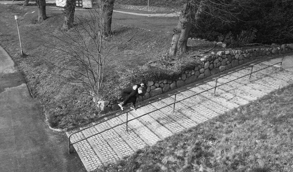 FS Backslide down the long 20 - Photo courtesy of Jonas Hannson