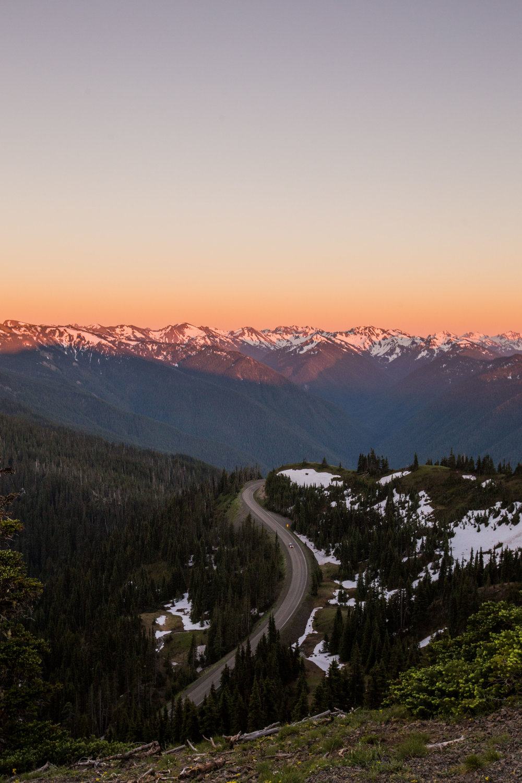 Hurricane Ridge at Sunset - Photo by Brad Oz
