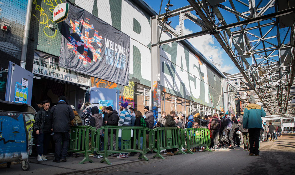 Crowding into capacity - Area51 Skatepark
