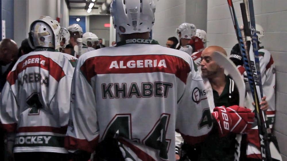 Yanis Khabet and the Algerian National Hockey Team.