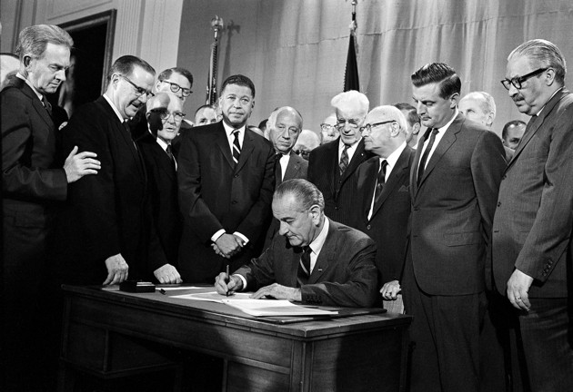 LBJ Signs Fair Housing Act