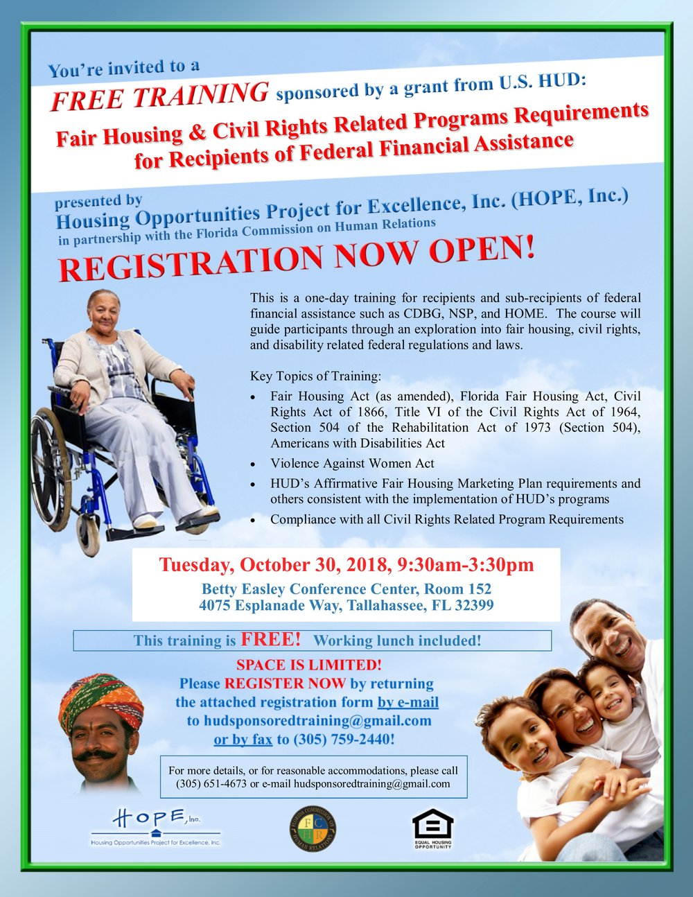 Tallahassee Civil Rights Training Flyer Image