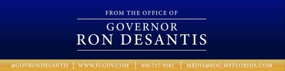 Florida Governor Ron DeSantis banner