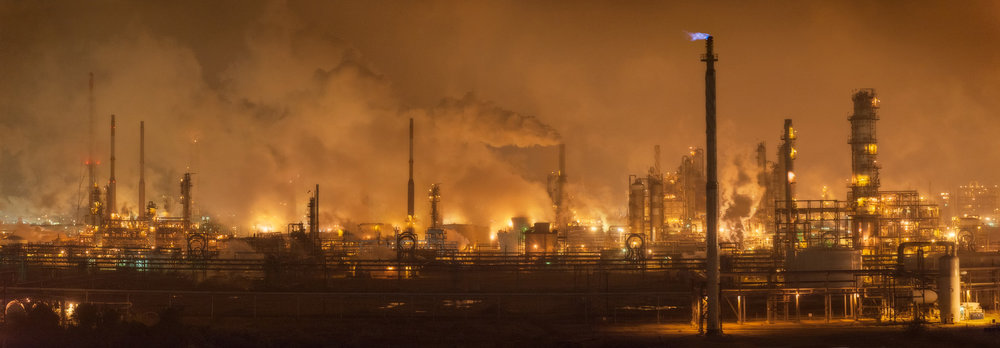 Chemical plants on the Houston Ship Channel. Photo: Louis Vest via Flickr