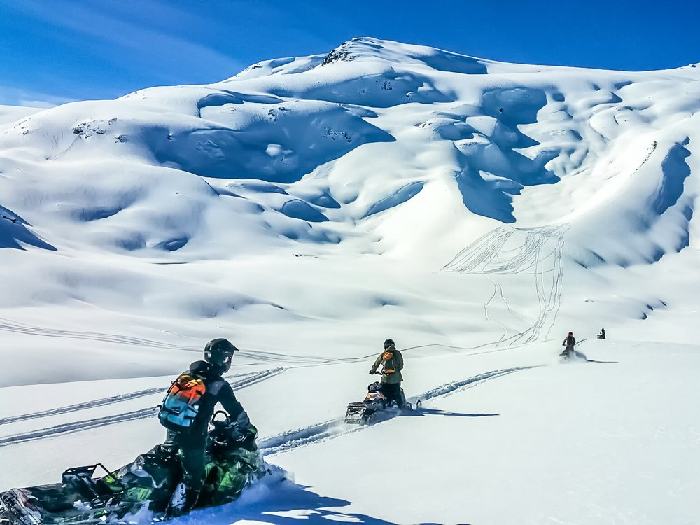 Guided Snowmobile Adventure   This tour is for you and your friends to explore the vast Pemberton backcountry with 50,000 acres of terrain to choose from! Tour bookings are never grouped together so you go with only your party.