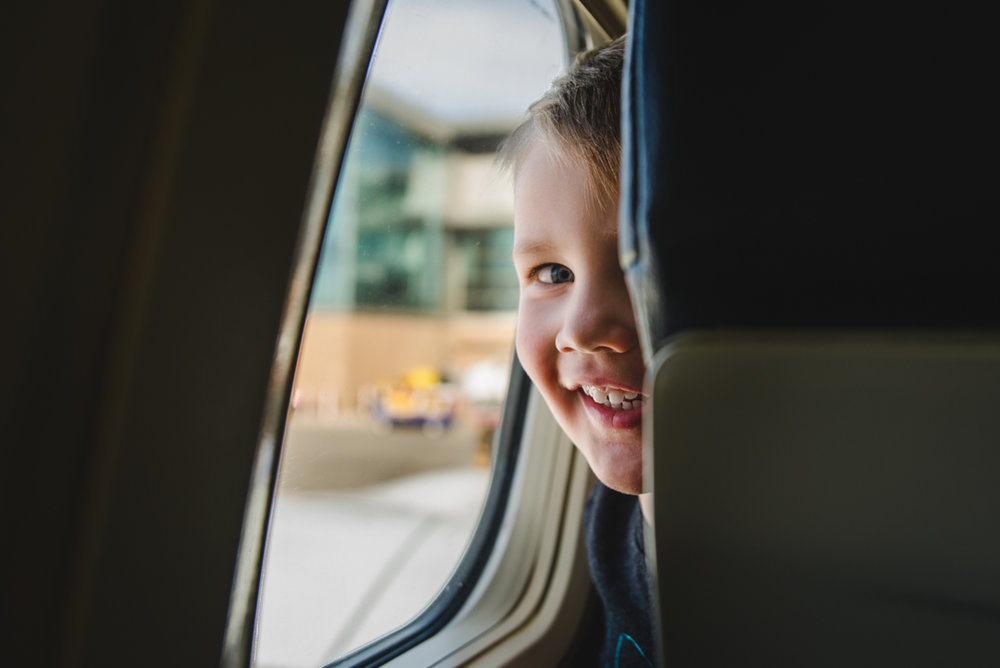 That's the smile of a kid on his way to Disney World.