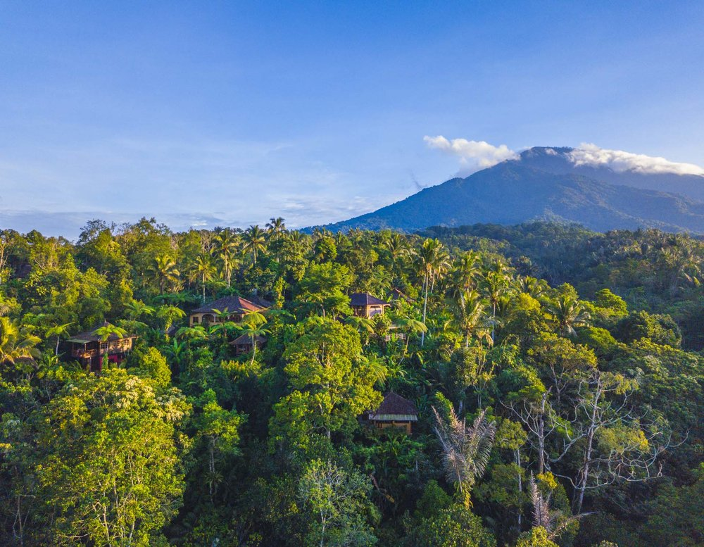 the ecolodge nestled on mount batukaru - photo by seb drewett