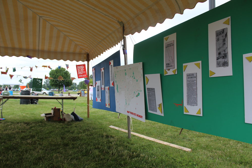 "The Detroit Free Press article display boards ""bookending"" the Memory Map."