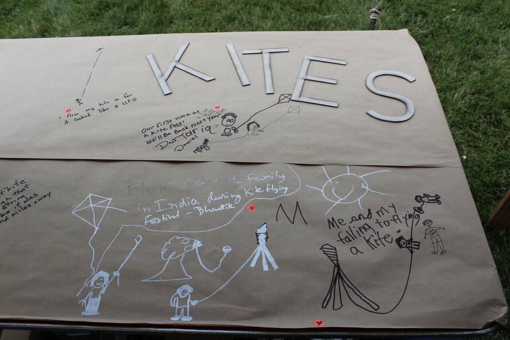 The Kite Tales display included excerpts from interviews with local kite enthusiasts.