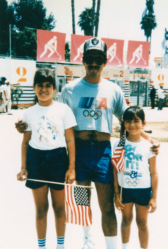 family attending 1984 Olympics. Source: Los Angeles Public Library