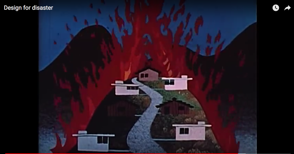 "still from LAFD's 1962 film ""Design for Disaster"""