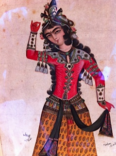 Portrait of a Qajar Woman. In Mahnaz's' private collection.