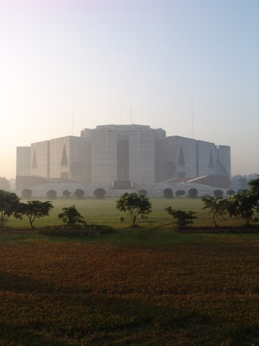 National Parliament House, Bangladesh, architect Louis Kahn, completed 1982.  Image Courtesy ArchDaily.com