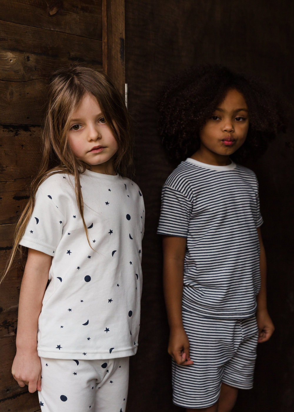 With 10 years' experience in the fashion industry, creative directing and designing loungewear for British heritage brands, founder Sophie Woodrow launched Sleepy Doe.   Born in Bath in 2016, Sleepy Doe provides  timeless printed sleep and loungewear for children aged 0-9 years.  All products are organic or eco with soft with subtle design details, bringing comfort and an effortless style to the mini bedtime wardrobe.   With the all-too familiar experience of having a child who doesn't sleep through the night, Sophie primarily wanted to help give adults the reassurance that their minis can be as comfy as possible when it comes to bedtime.  With her design experience and knowing the importance of achieving quality alongside style,  the super-soft fabrics are hand-picked for comfort, maximising chances of the good night's sleep every parent hopes for.   With Sophie's love of childrenswear, interiors and print design, Sleepy Doe's collections are classic, whilst injecting simple hand-drawn prints in friendly colours that sit happily in any home. Each season Sophie likes to offer a girl print for those tiny humans that love all things pretty alongside unisex options that siblings can share.   All methods of manufacturing are sustainable and ethical reflecting the standards of the whole brand. No harmful dyes are used in the printing method and all products are printed on cotton ecologically sourced from British manufactures.  All products are designed and made in the UK , supporting independent factories and businesses, hurrah!